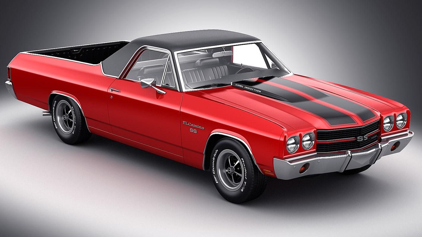 3d model el camino 1970