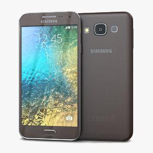 samsung galaxy e5 brown 3d max