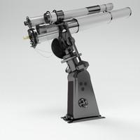 telescope observatory 3d model