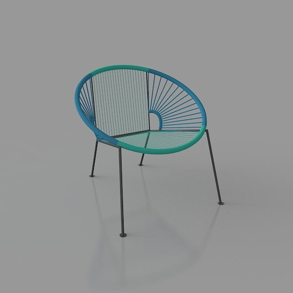 wire outdoor lounge chair 3d 3ds
