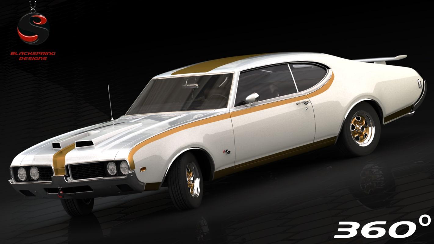 3d model oldsmobile 1969 interior