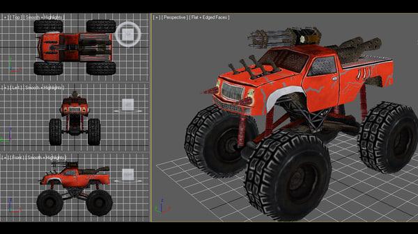 3d model monster truck