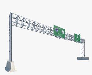 highway sign 2 3d max
