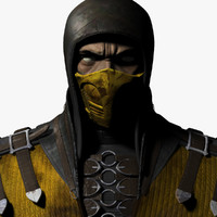 3d scorpion - mortal kombat model