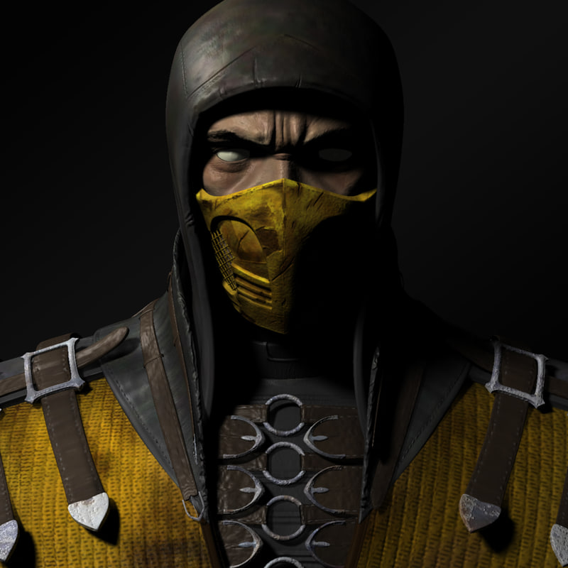 3d scorpion - mortal kombat