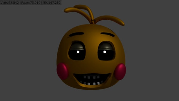 free 3ds model toy chica head fnaf