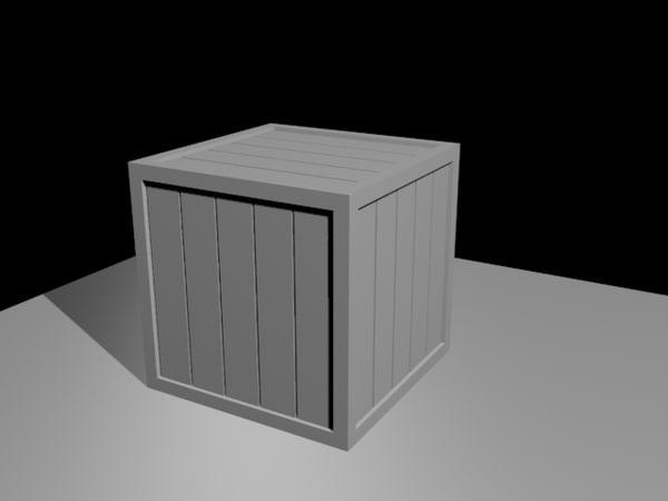 free fbx model simple crate