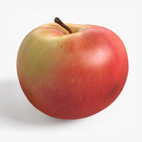 realistic apple 3d max
