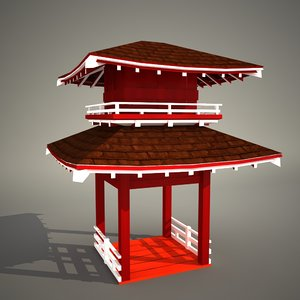 pagoda pergola obj