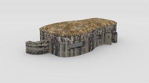 3d bunker ww 2 model