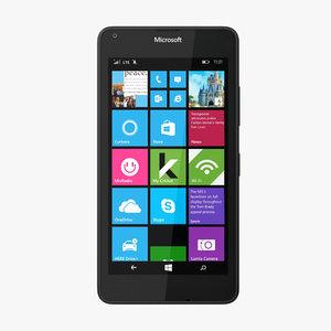 3d microsoft lumia 640 lte model