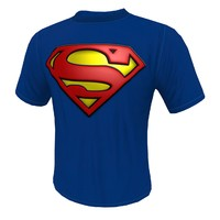 3d model man t shirt superman
