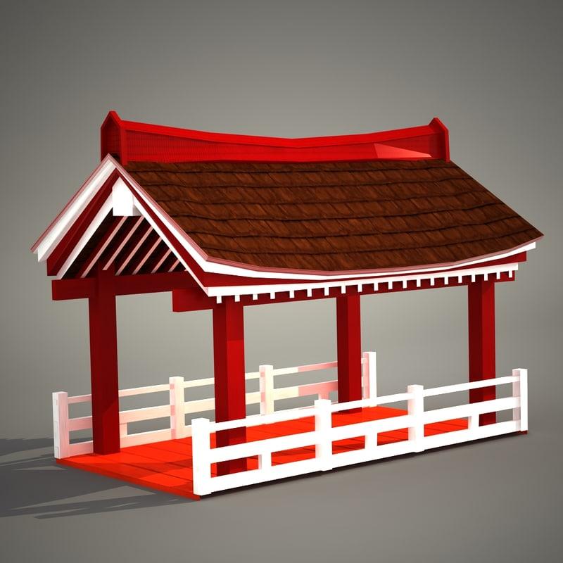 3d pagoda pergola