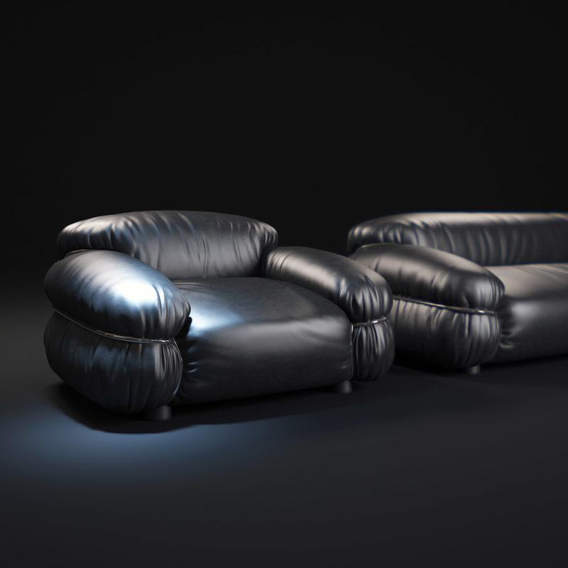 3d model sesann-sofa