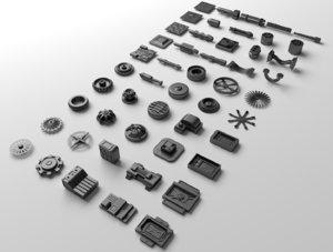technical parts 3d 3ds