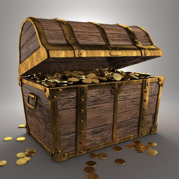 3d pirate treasure chest model