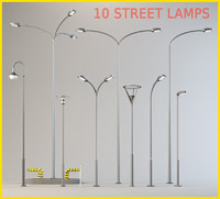 10 STREET LAMPS