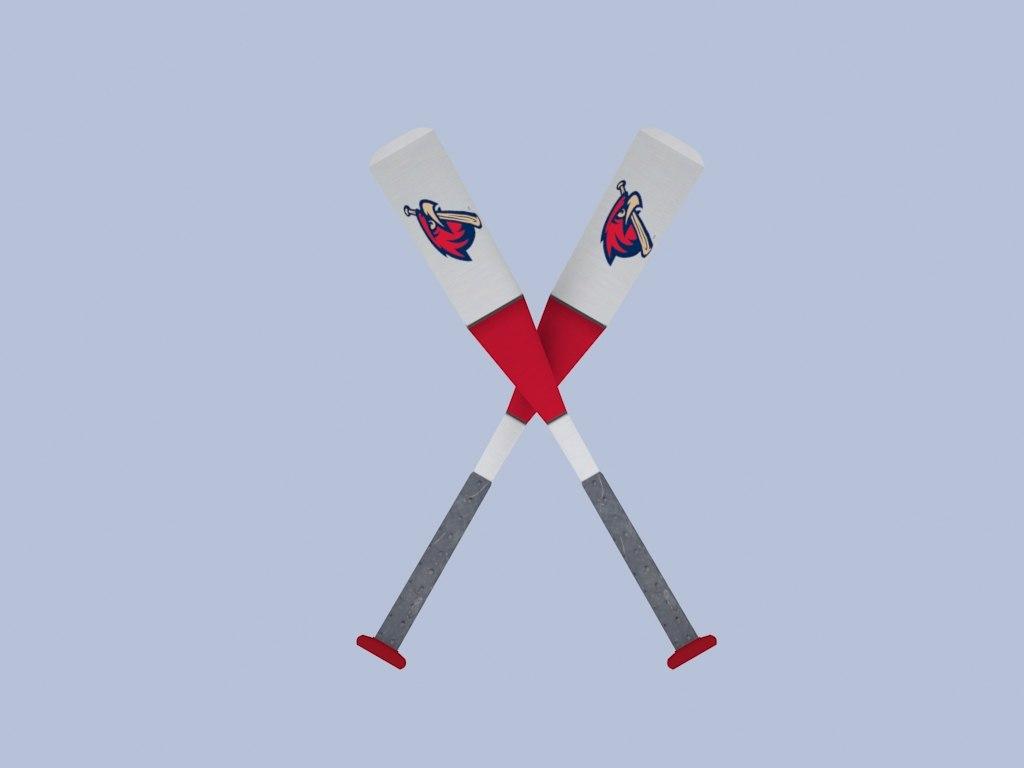 free baseball bat 3d model