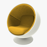 3d model ball chair