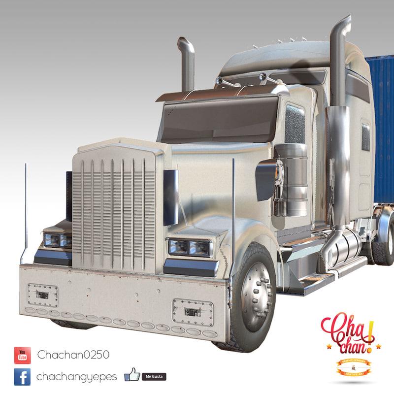 obj truck trailer