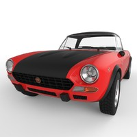fiat 124 abarth rally 3d model