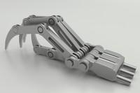 3d metal hand