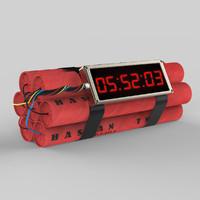 bomb timer time 3d model