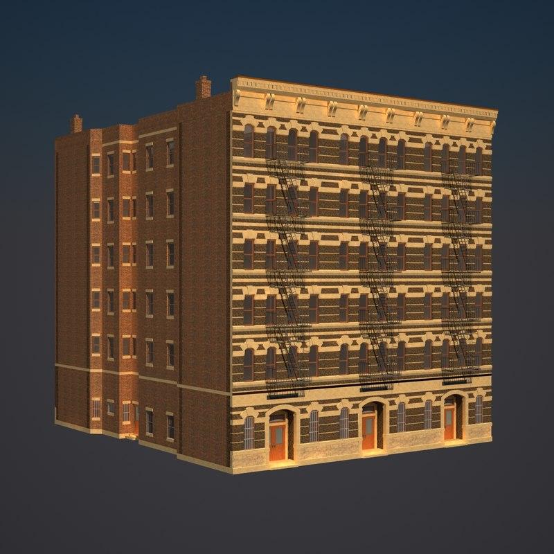 3dsmax apartment building