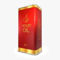 5 liter oil 3d max