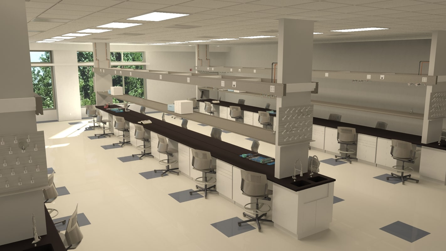 laboratory biology lab 3d 3ds