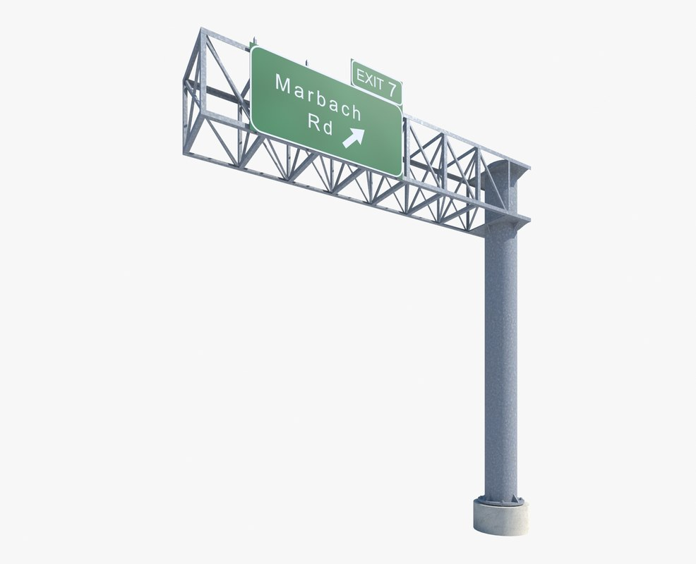 highway sign 3d max