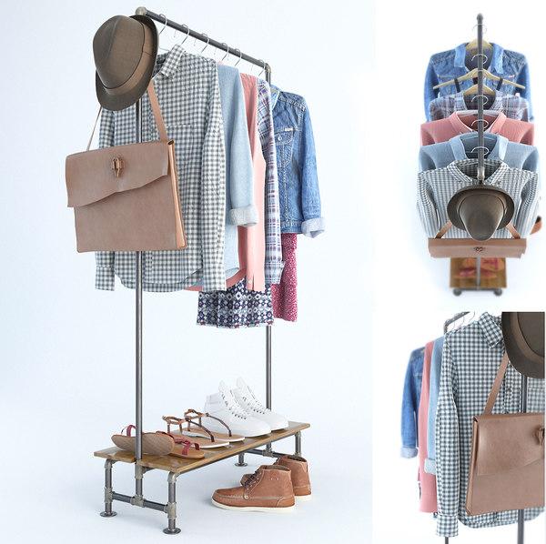 3d clothes shirts jean model