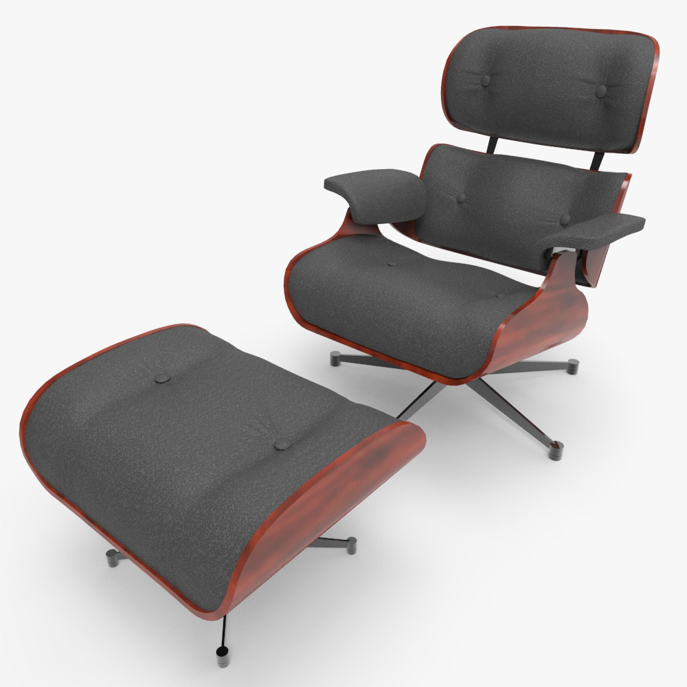 3d eames lounge chair