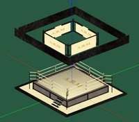 3d boxingwrestling ring model