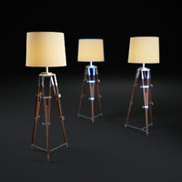 3d model surveyor s-tripod-floor-lamp