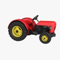 3d tractor kid model