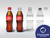3d coke pet bottle model