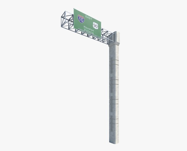 3d highway sign