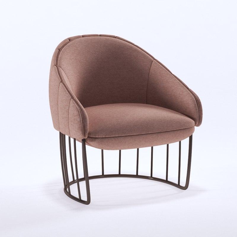 3d model tonella chair