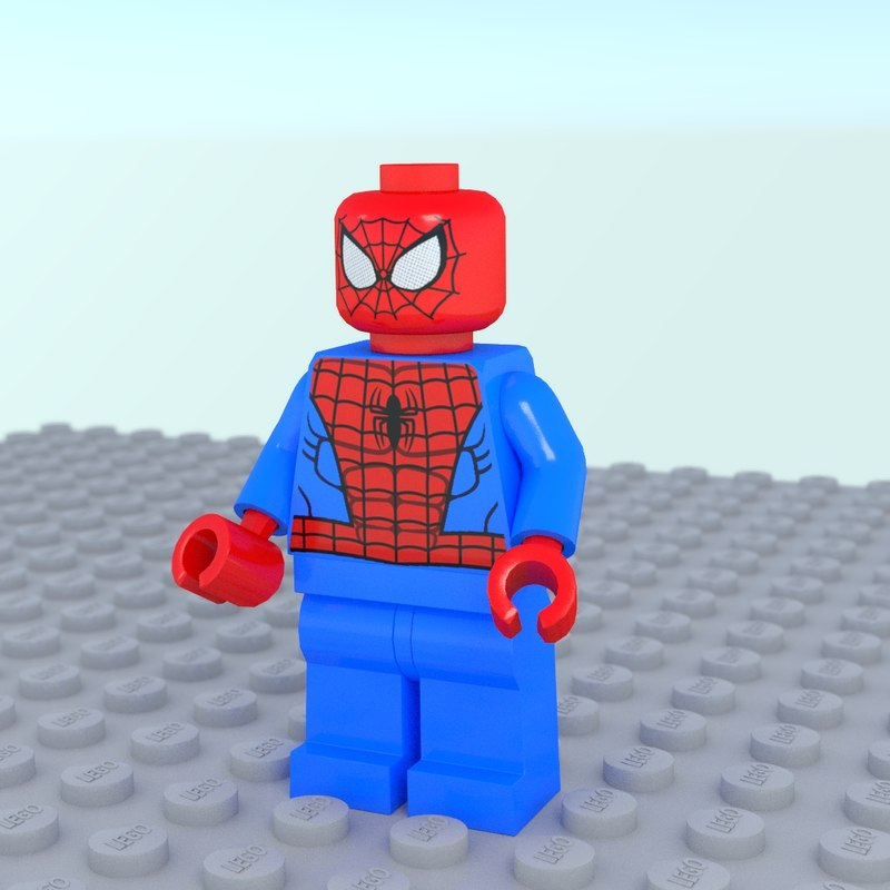 lego spiderman obj