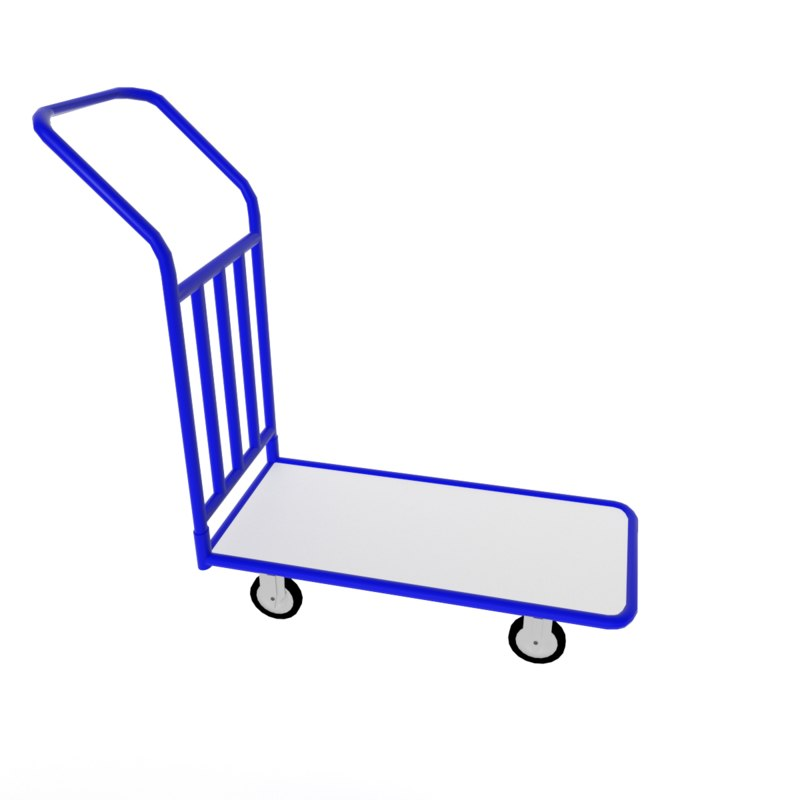handcart cart 3d obj