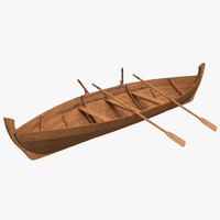 rowing boat modeled 3d model