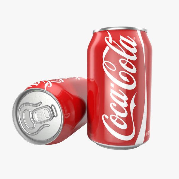 aluminum 0 33l coca cola 3d model