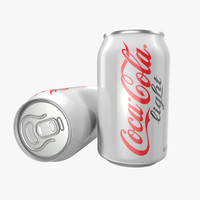 Aluminum Can 0.33L Coca Cola Light 3D Model