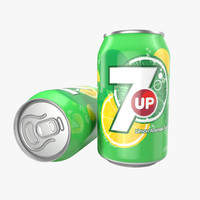Aluminum Can 0.33 L 7up 3D Model