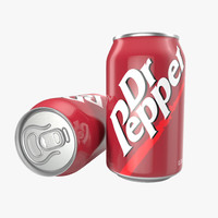 Aluminum Can 0.33L Dr Pepper 3D Model