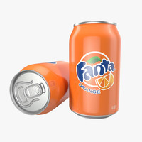 Aluminum Can 0.33L Fanta 3D Model