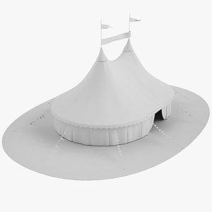 free circus tent 3d model