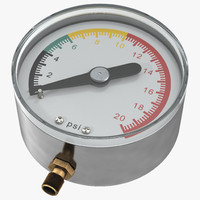 pressure gauge modeled 3ds