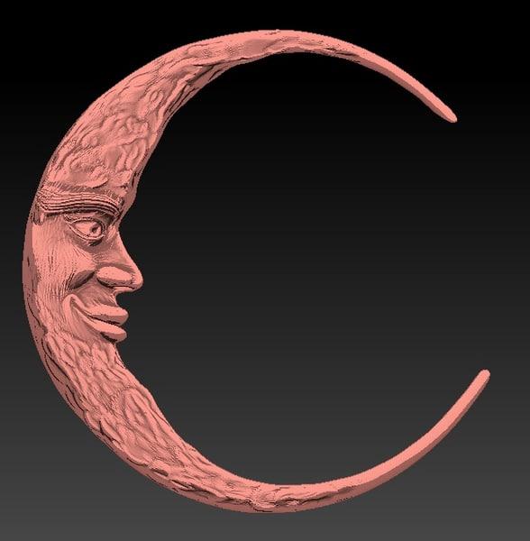 3d smile cartoon luna moon